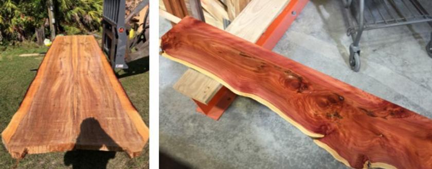 Exotic wood plank image
