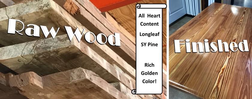 Raw vs Finished wood image