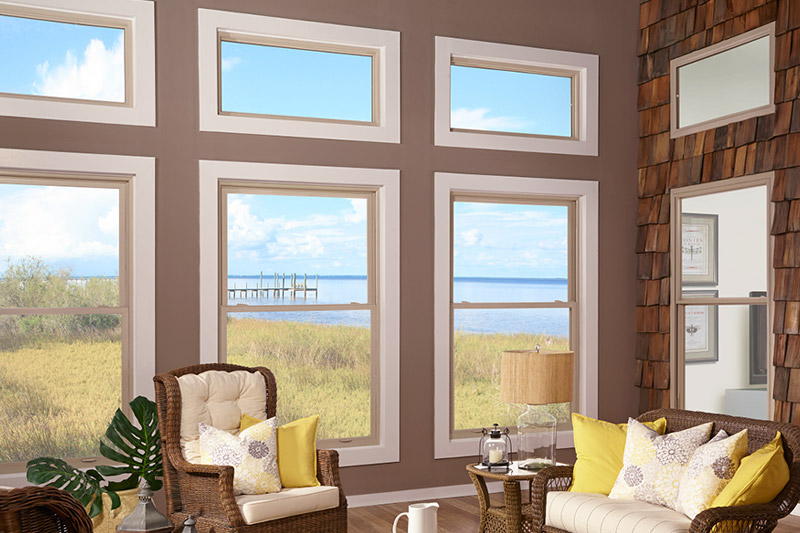 Windows with ocean in background image