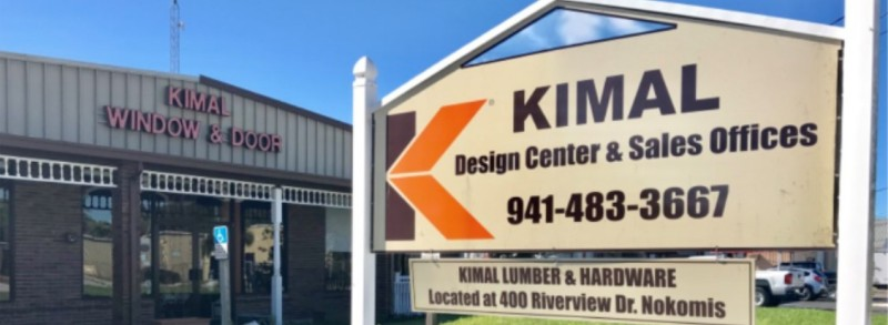 Kimal Design Center and Sales Office sign